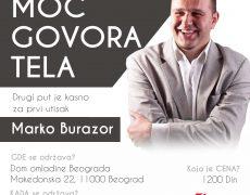 "Seminar ""MOĆ GOVORA TELA"" u Domu omladine Beograd"