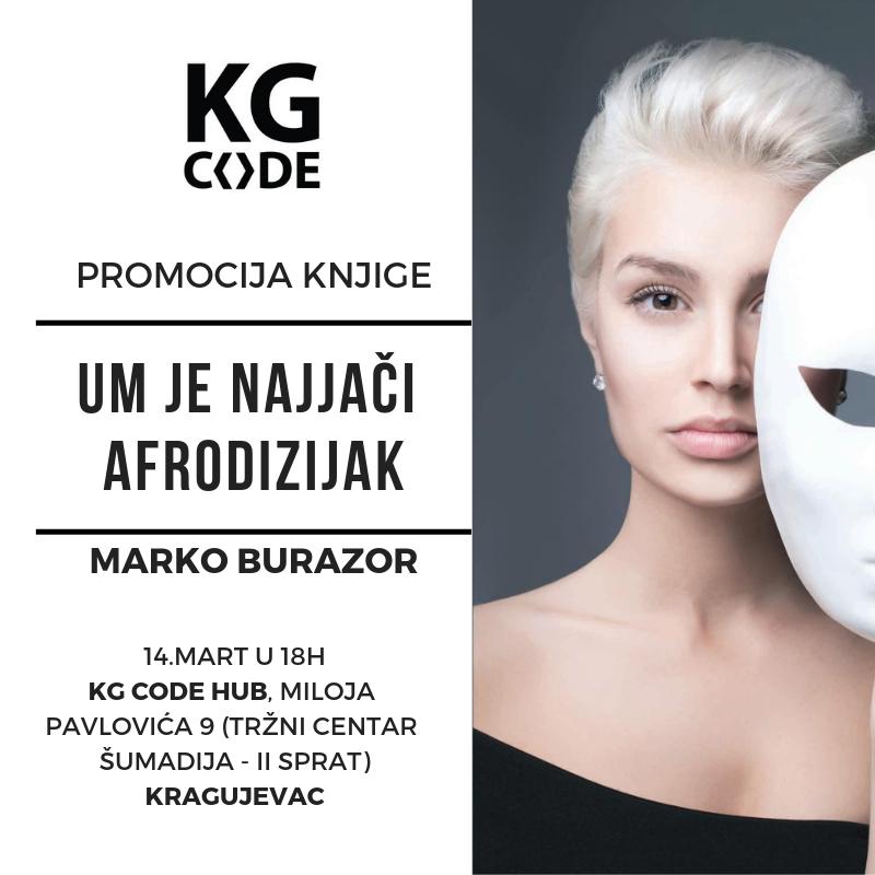 Promocija knjige ''Um je najjači afrodizijak'' u Kragujevcu